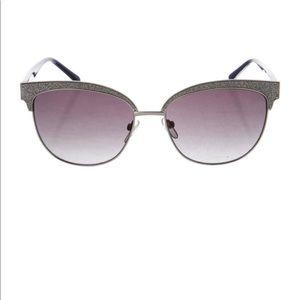 Azzaro glitter wayfarer sunglasses cat eye cateye
